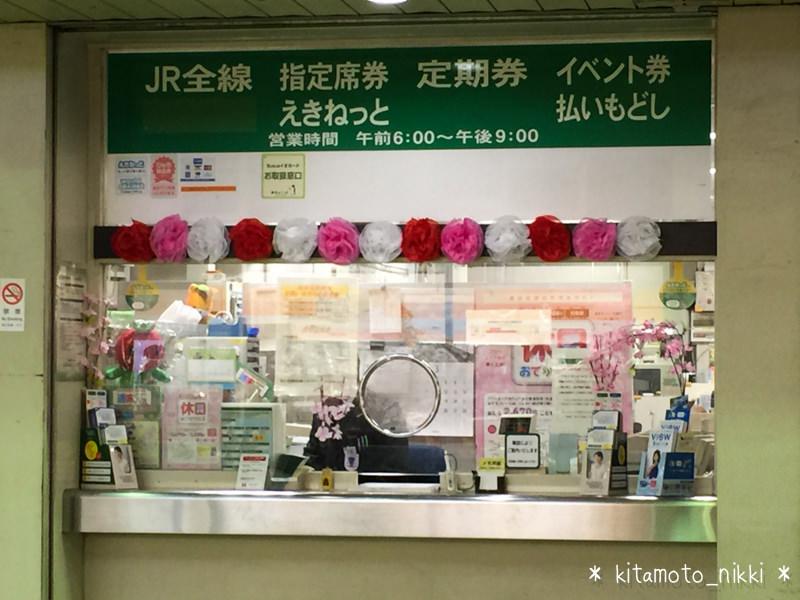 北本駅に桜咲く