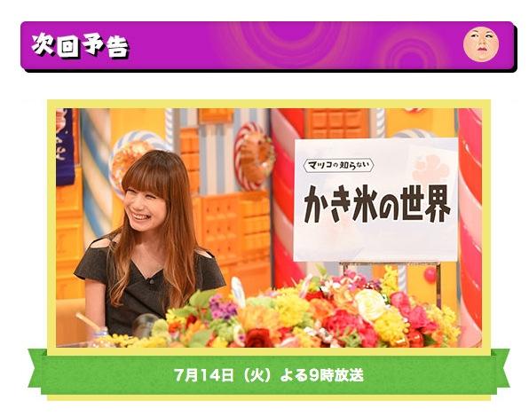 【かき氷特集】マツコの知らない世界 年間1500杯以上「原田麻子」7月14日放送