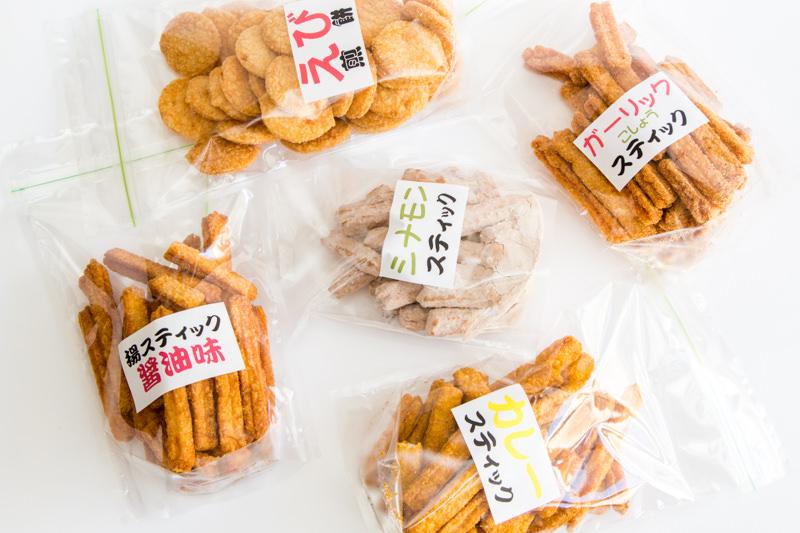 【三郷】富士見せんべいの揚げスティックがウマすぎる!〜6種類食べ比べ完全食レポ〜